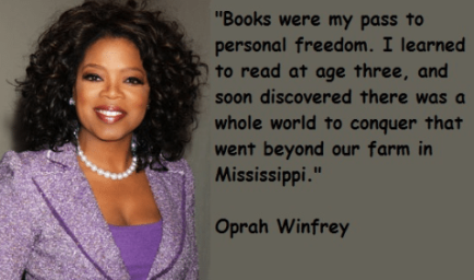 Oprah Quote on books