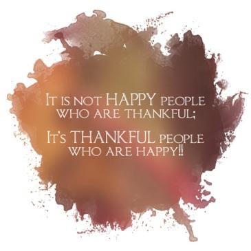 Gratitude-happy people