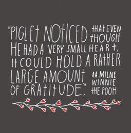 gratitude- Piglet