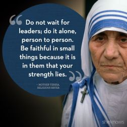 Hope quotes- Mother Theresa