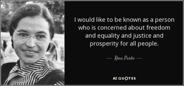 Rosa Parks- quotes