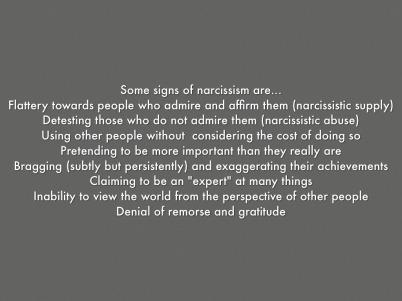 narcissm