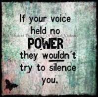 If your voice has no power